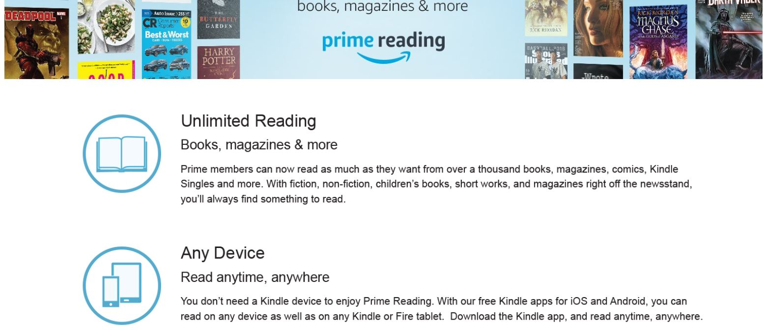 Making the Most of Amazon Prime: Prime Reading – Becton Literary